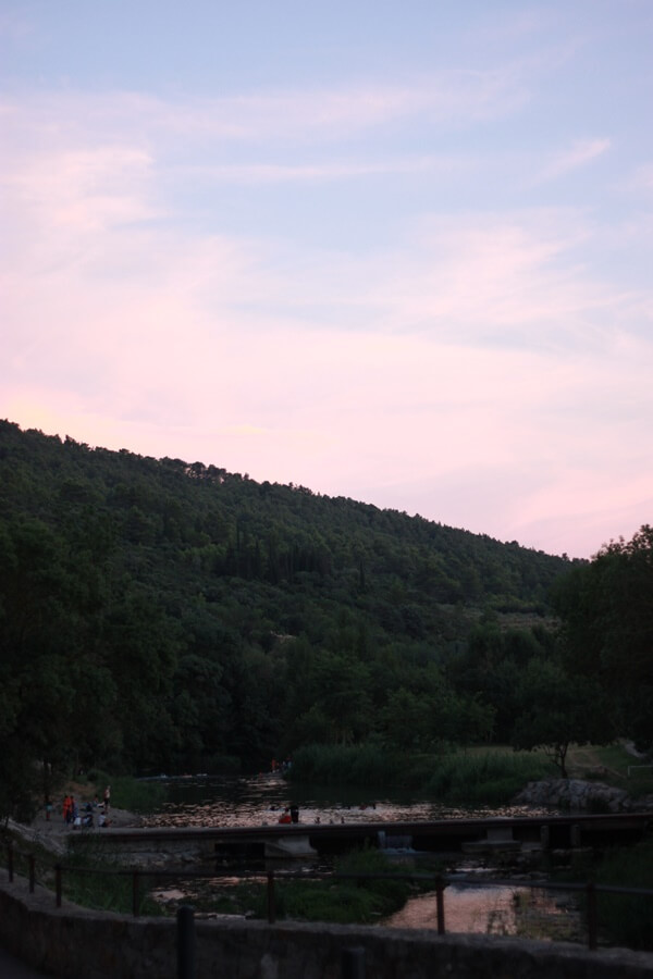 Exploring Lagrasse with Kids - evening river swimming