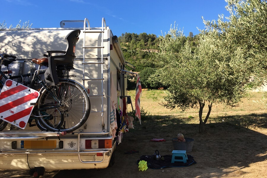 Exploring Lagrasse with Kids - camping car aire