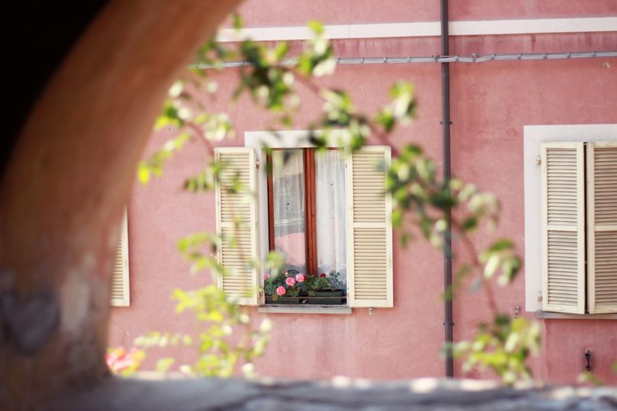 Pretty window boxes - Exploring Brisighella With Kids