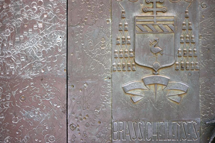 Ornate church doors - Exploring Brisighella With Kids