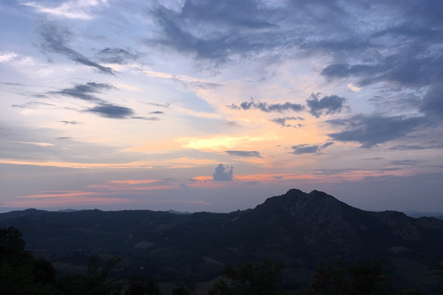 Sunset behind the mountain - Exploring Brisighella With Kids