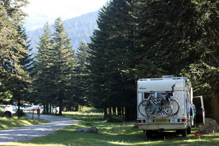 France In A Campervan - Payolle Aire du Camping Car