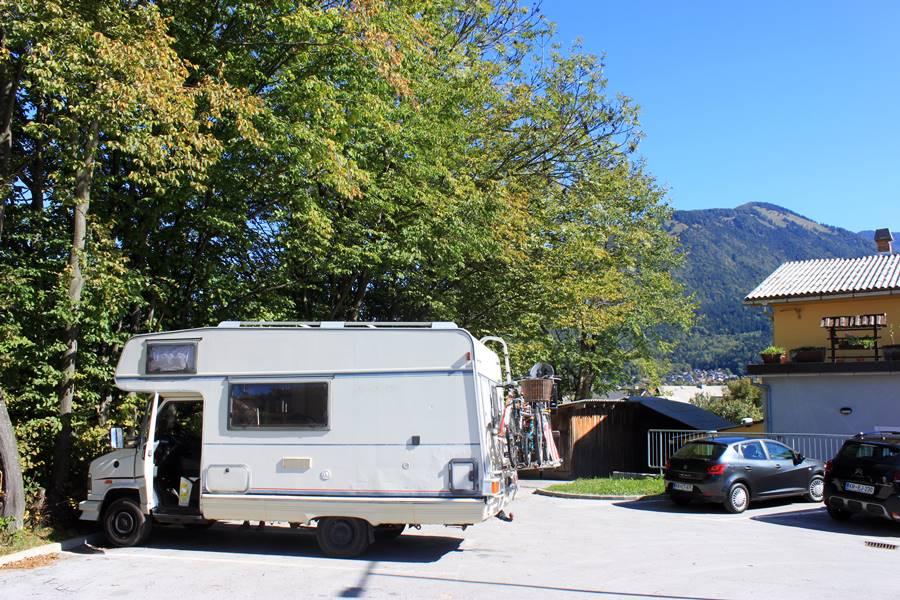 Kovor camper stop in Slovenia