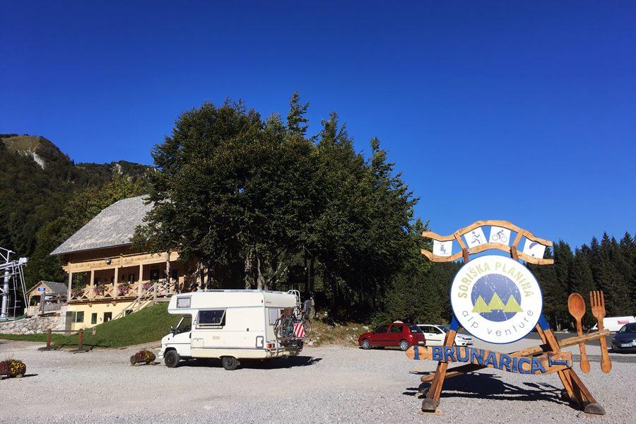 Soriska Planina motorhome stopover Slovenia