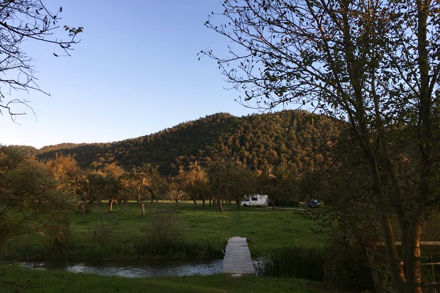 Pr' Krač Dolsko Tourist Farm campervan stopover