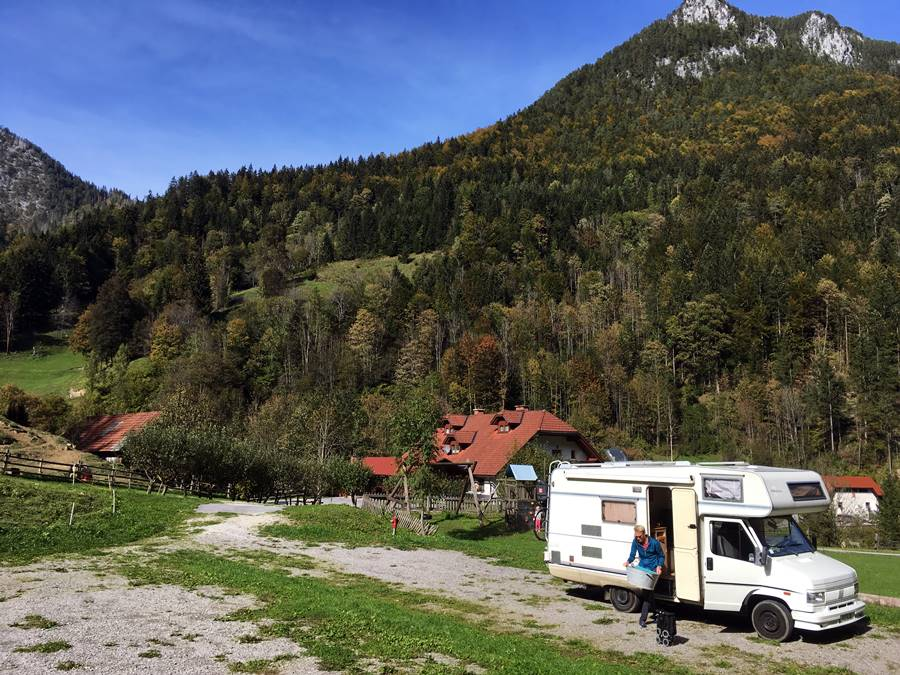 Ambroz Gregorc tourist farm motorhome stopover Slovenia