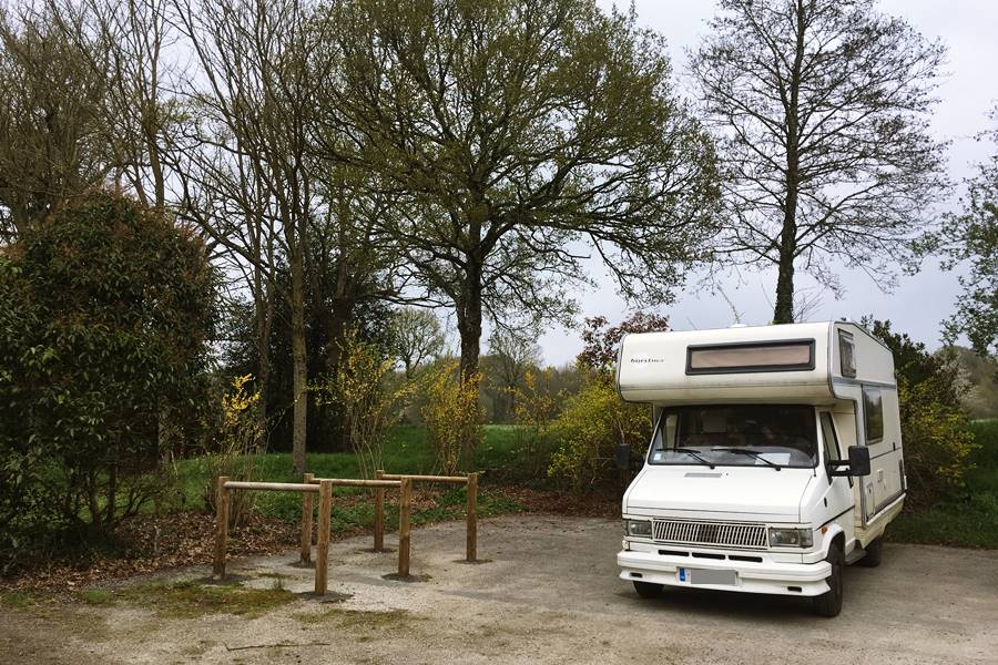 Motorhome Parking by the canal near Guillac - France In A Campervan