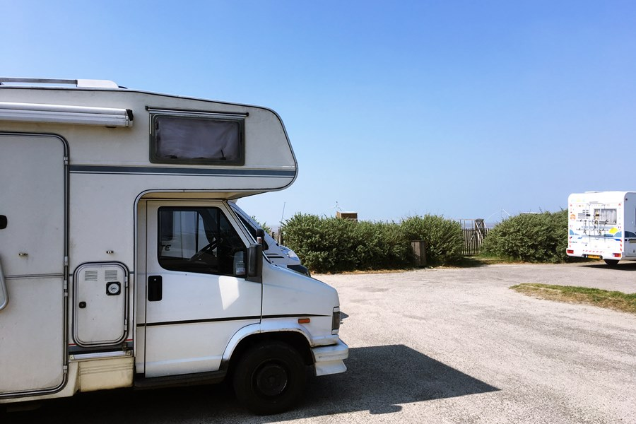 Motorhome parking at Les Moutiers-en-Retz - France In A Campervan