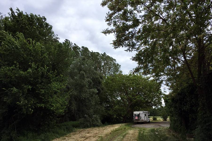 Garonne River campervan parking near Grenade - France In A Campervan