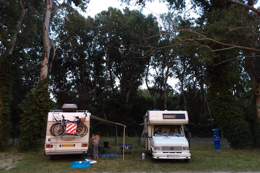 Aire de Camping-Car Pont d'Avignon - France In A Campervan