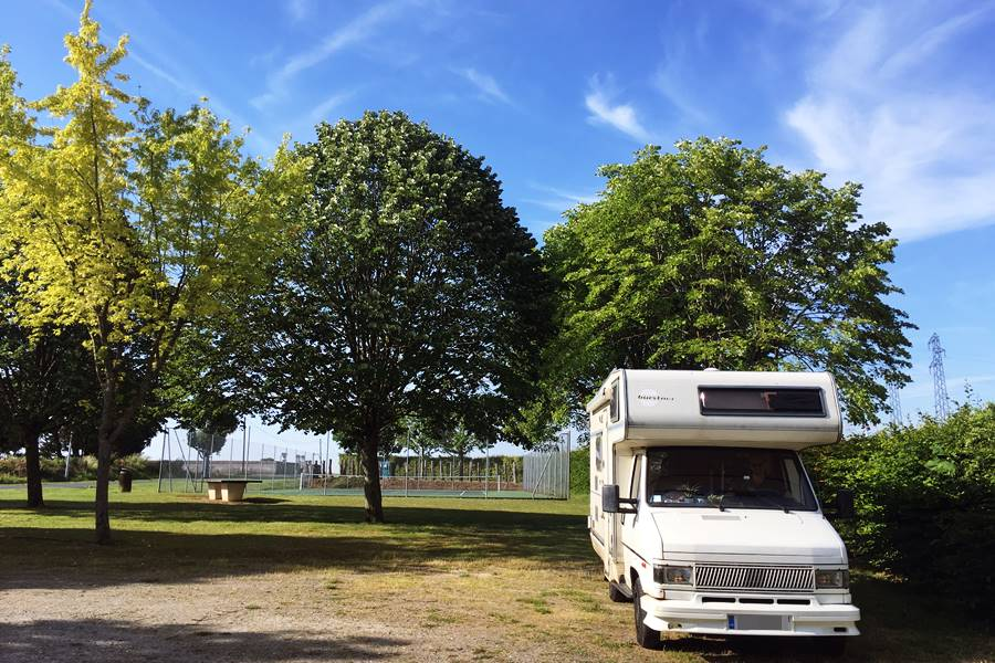 Motorhome parking in Saint-Aoustrille - France In A Campervan