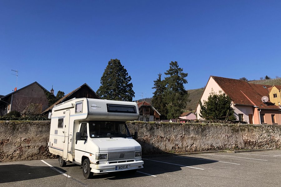 Riquewihr Aire de Camping-Car - France In A Campervan