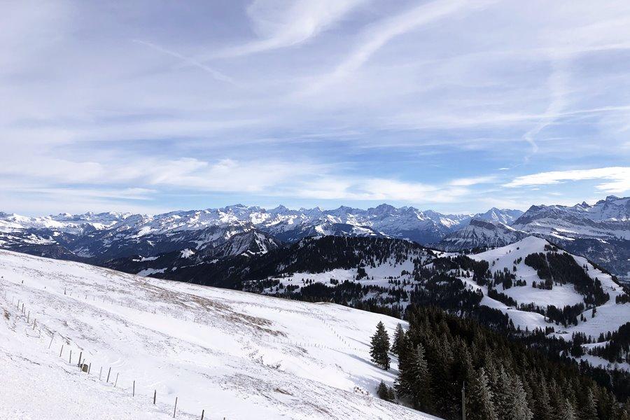 Mountain view from Rigi Kulm - Exploring Weggis (Switzerland) In A Campervan