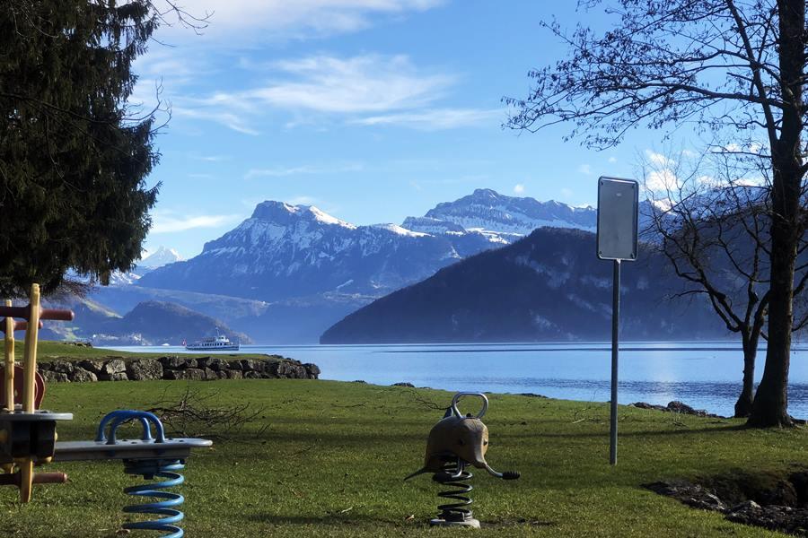 Playground on Lake Lucerne - Exploring Weggis (Switzerland) In A Campervan