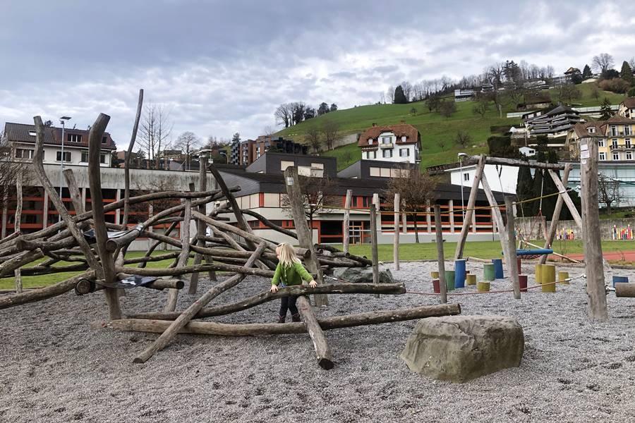 Weggis playground - Exploring Weggis (Switzerland) In A Campervan