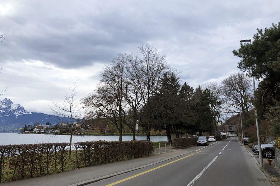 Overnight campervan parking on Lake Lucerne - Exploring Weggis (Switzerland) In A Campervan