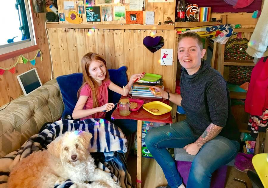 Luton van conversion interior - Fulltime Van Family Exploring Europe