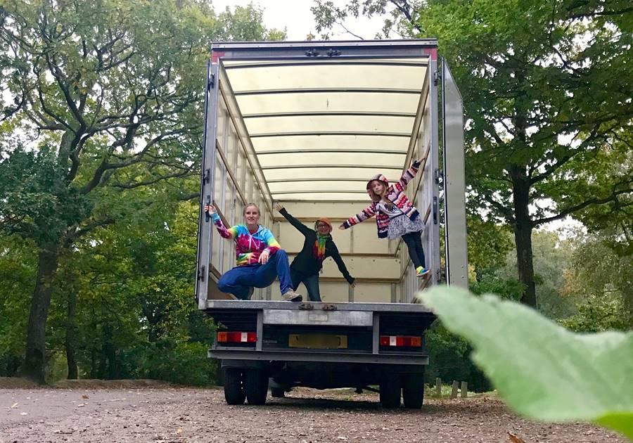 Luton van ready for conversion - Fulltime Van Family Exploring Europe
