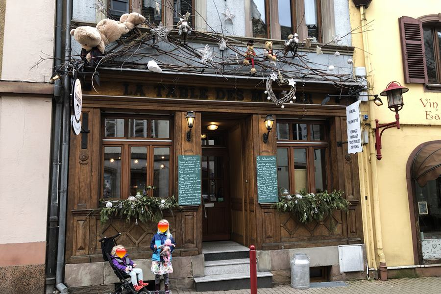 La Table des Malker restaurant in Munster, France - exploring Munster and finding storks