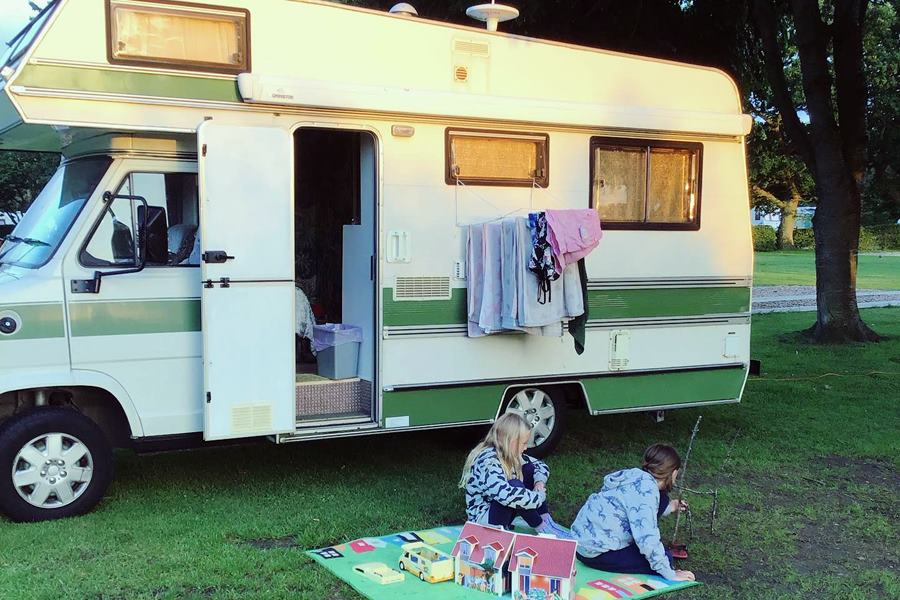 Unschooling family with their motorhome - Family Backpacking Adventure Life Change