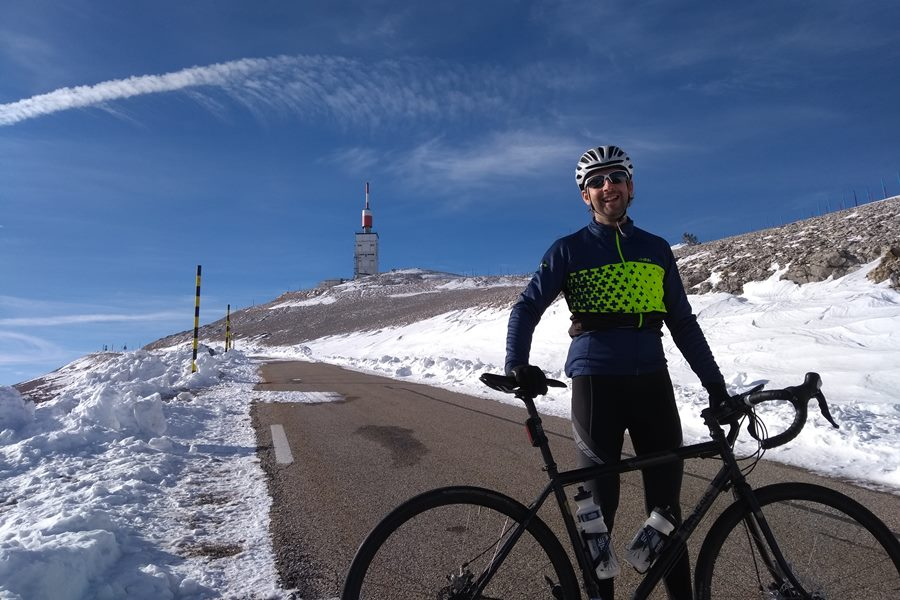 Biking up Mont Ventoux in France - New Life In Italy After Family Van Life Adventure